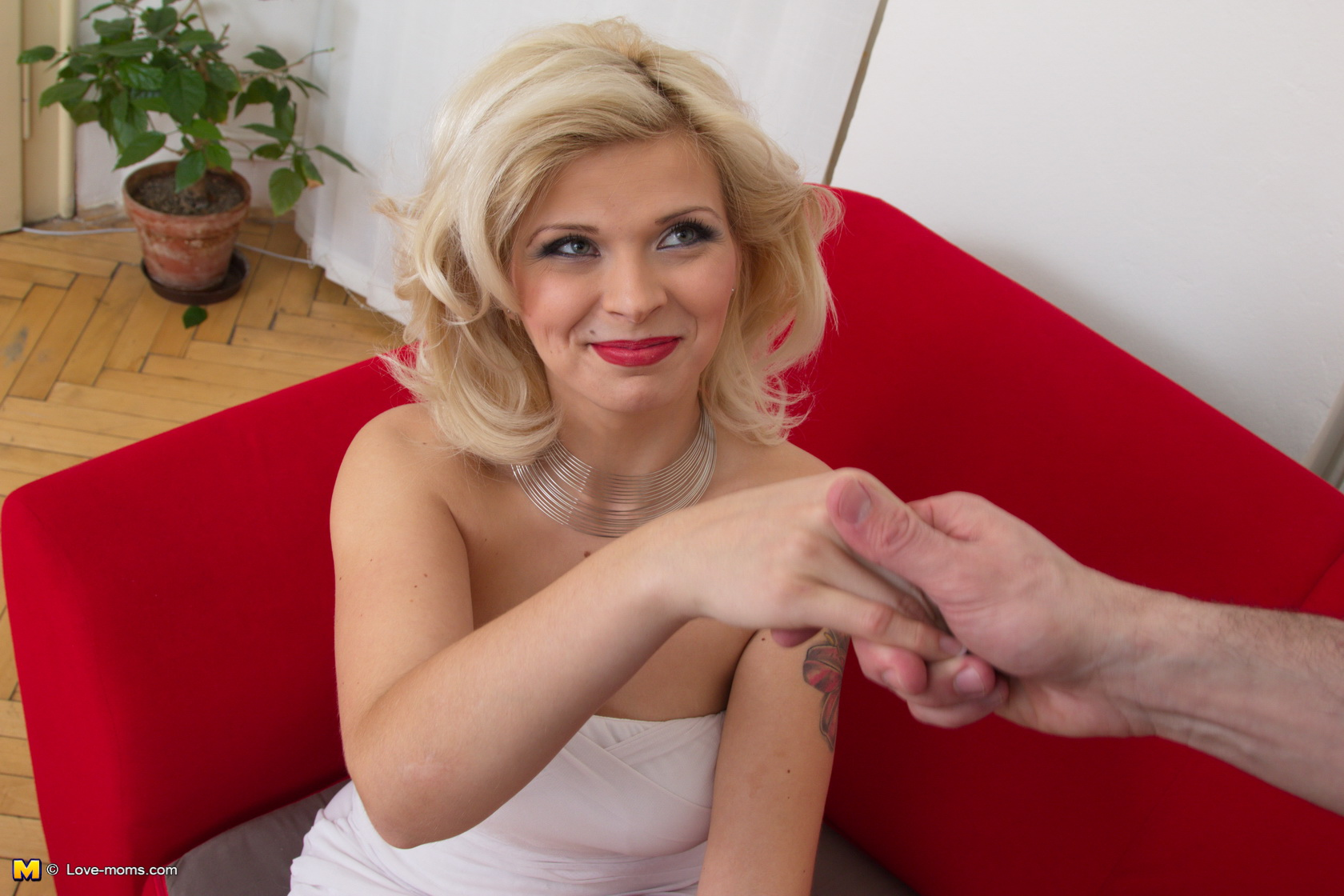 Smell nylon socks handjob