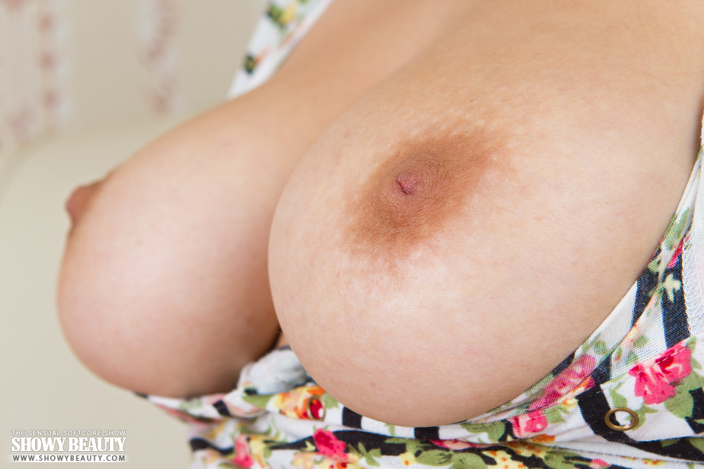 Marvelous charmer with absolutely incredible boobs showing ...