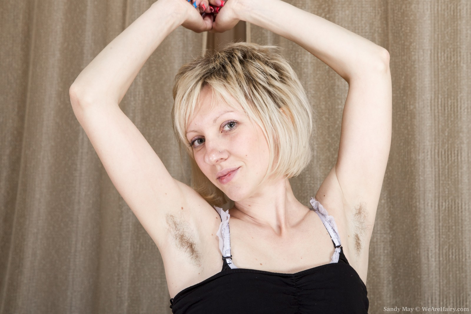 With nude hairy girls arms blonde