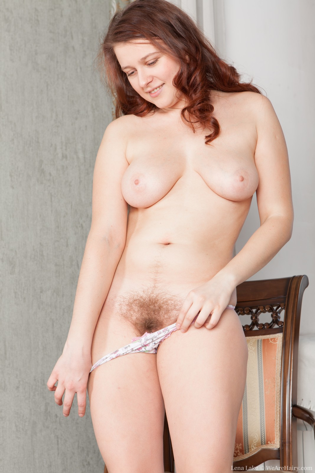 Hairy female pubic hair
