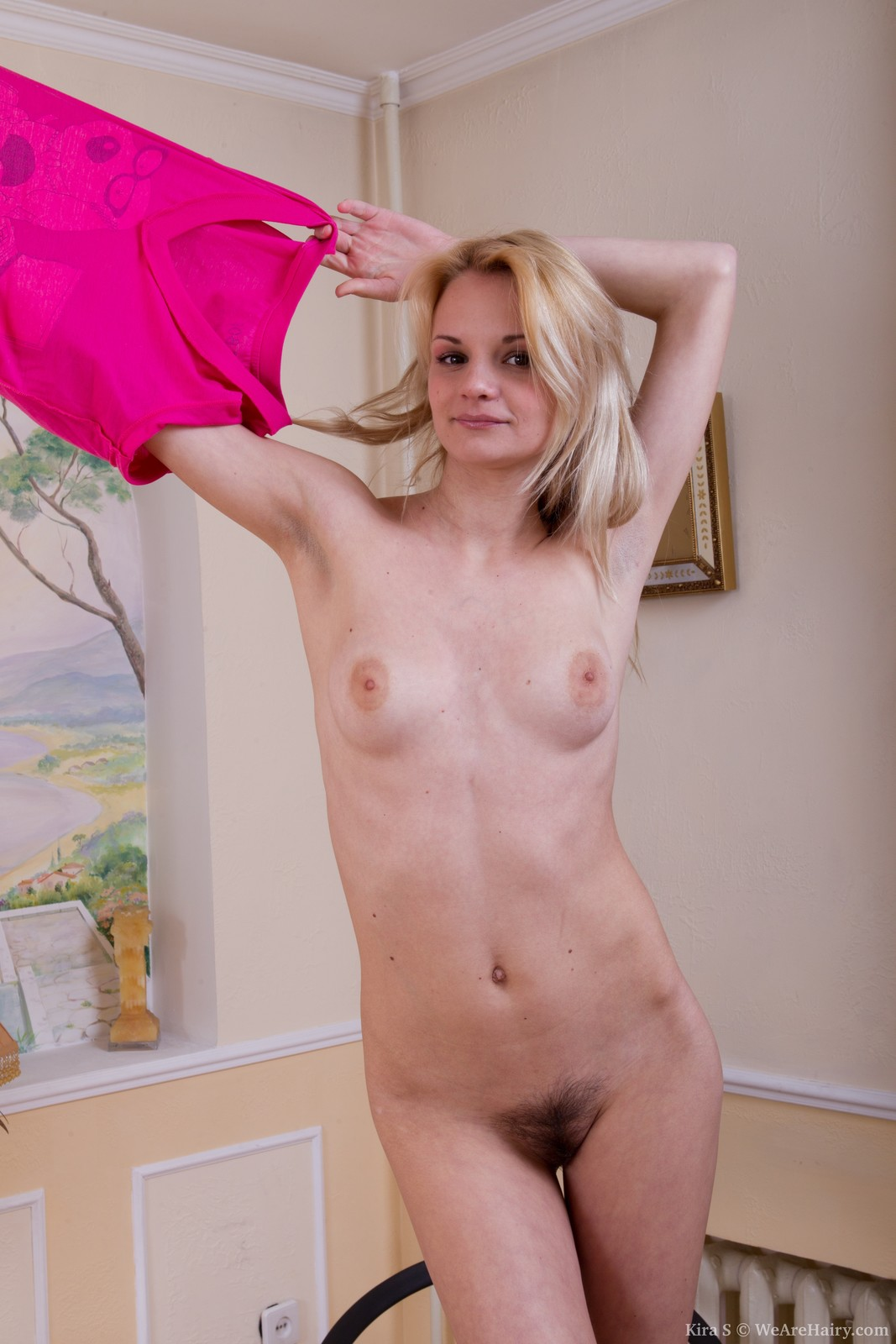 Hairy pussy fitness girl
