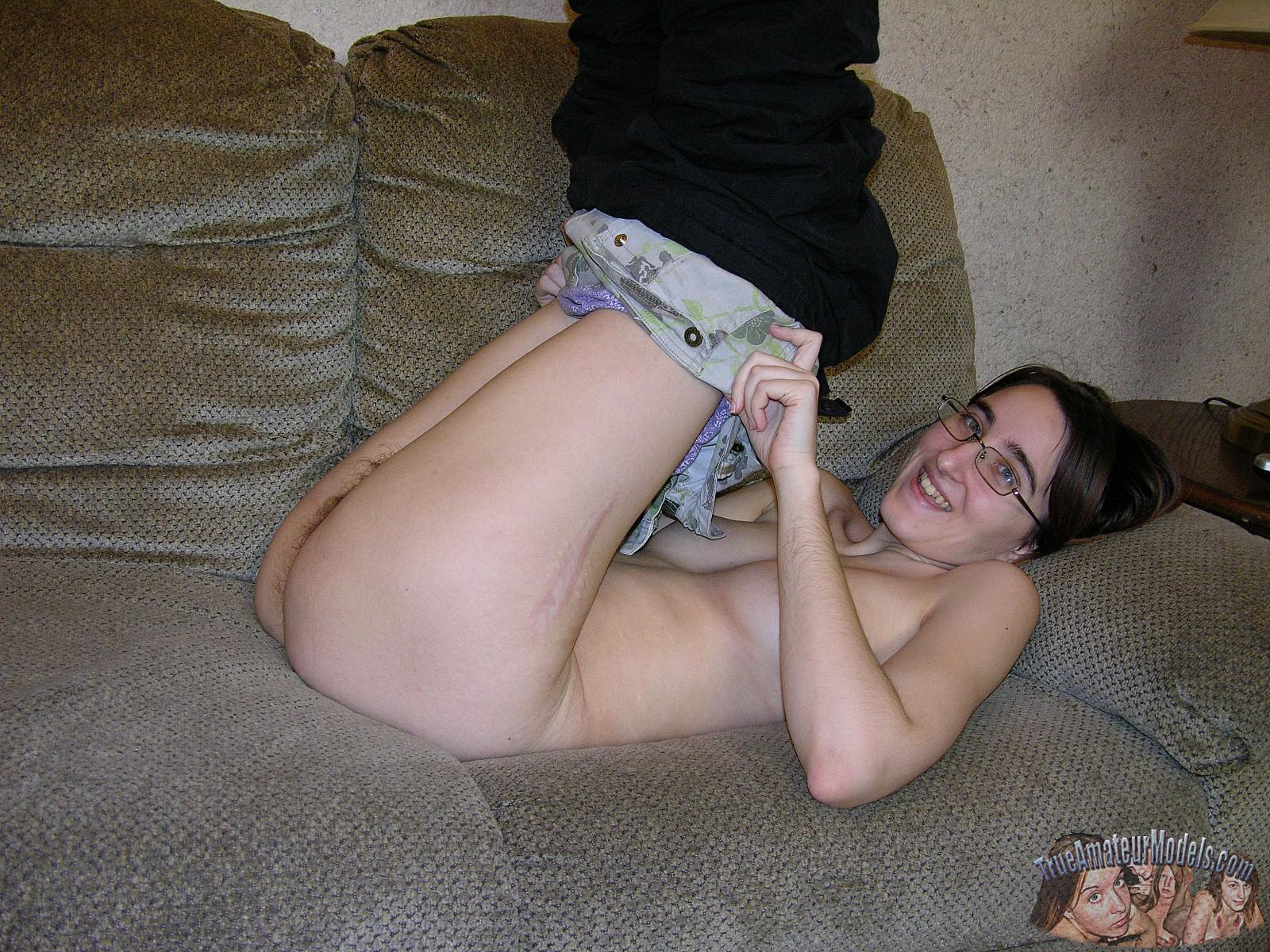 Nude chubby girl amateur nerd